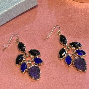 Kendra Scott Blue and Purple Earrings